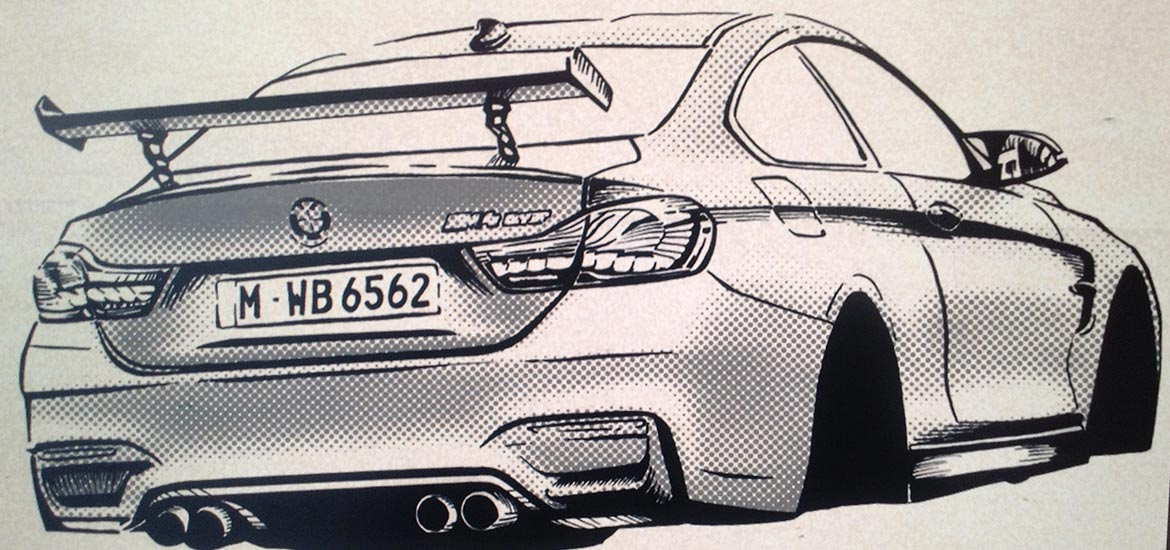 BMW M4 GTS Manga Illustration animation styleframe