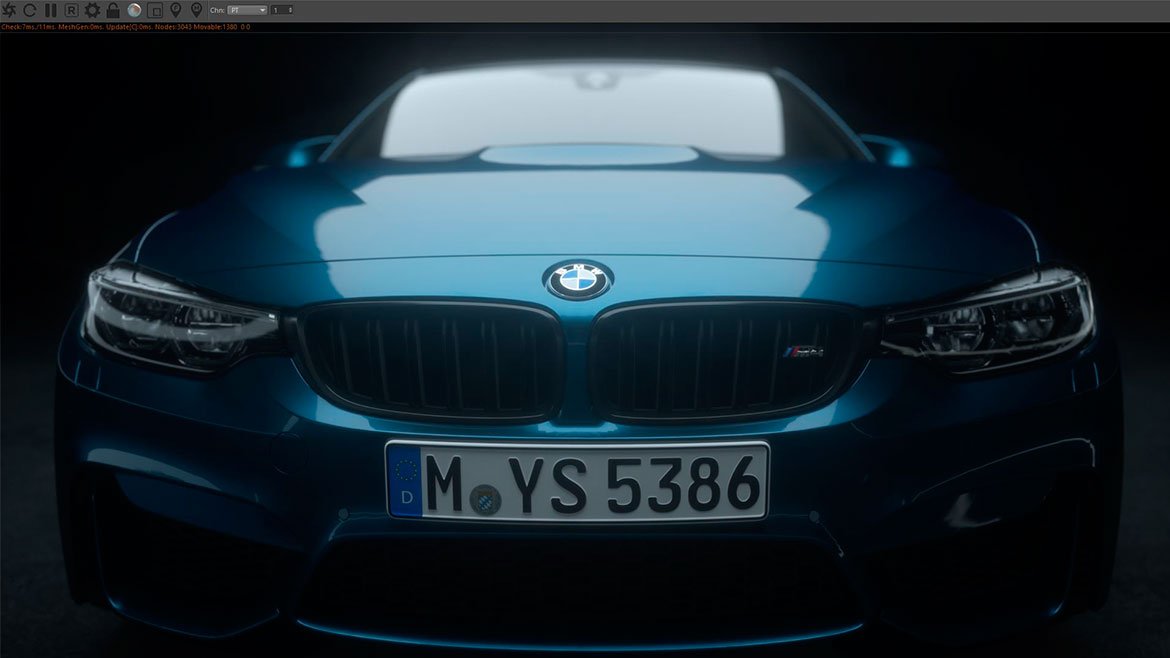 BMW M IAA Making Of 2017 rendering 3D