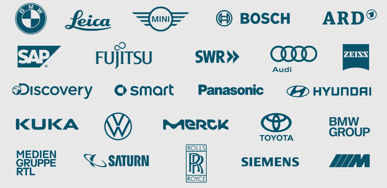 client_list_BMW_Leica_MINI_Kuka_Discovery_VW_Bosch_Panasonic