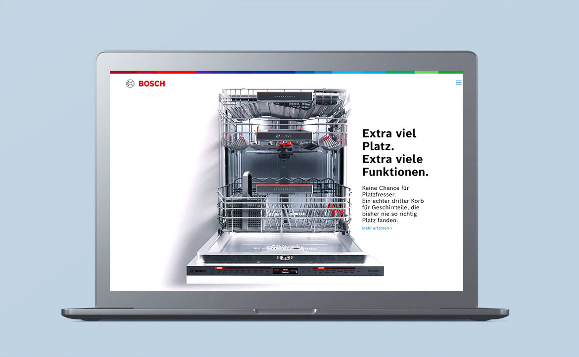 Style Frames & Concept Styleframes , Art Direction, Bosch IFA 2020 website 3D design motion graphics 12frames jan schönwiesner