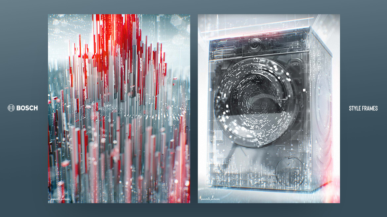 Style Frames & Concept Styleframes , Art Direction, Bosch IFA 2020 website 3D design motion graphics 12frames jan schönwiesner